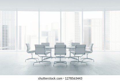 Modern office interior. 3d rendering