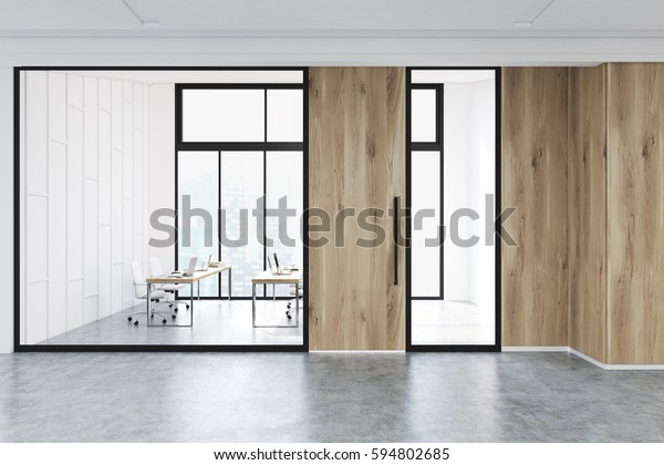 Modern Office Lobby Interior Conference Room Stock Illustration 594802685