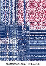 modern pack work damask carpet pattern