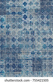 modern patchwork carpet