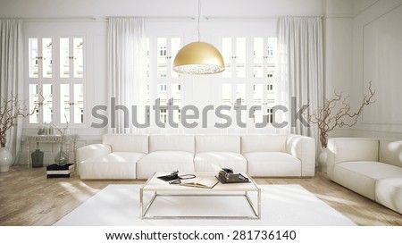 Modern Retro Style Penthouse Living Room Stockillustration 48 Amazing Retro Modern Living Room Style