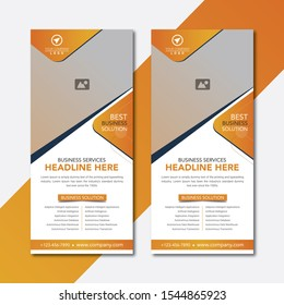 Modern and Simple Business Rack Card Template Design