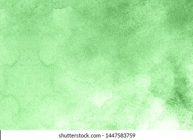Modern simple creative light green watercolor painted paper textured effect background. Abstract spring shades aquarelle illustration for grunge design, vintage card template.