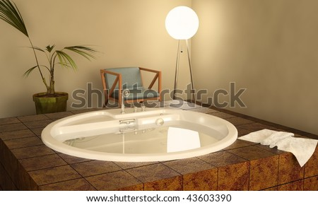 Modern spa interior jacuzzi stockillustration u shutterstock