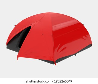 Modern tent isolated on background. 3d rendering - illustration