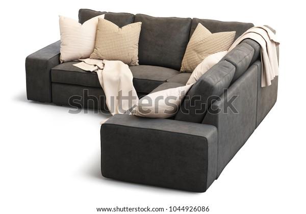 Brilliant Modern Textile Ikea Kivik Sofa Gold Stock Illustration Evergreenethics Interior Chair Design Evergreenethicsorg