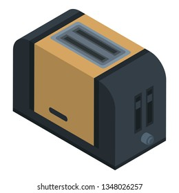 Modern toaster icon. Isometric of modern toaster icon for web design isolated on white background