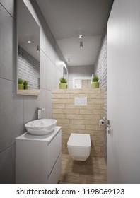 Modern toilette design - 3 d render