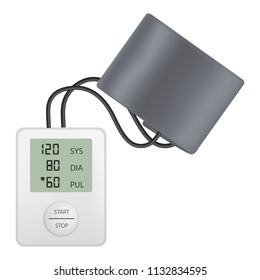 Modern tonometer mockup. Realistic illustration of modern tonometer mockup for web