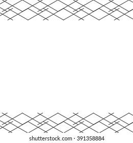 Modern Tribal Border Geometric Background Lines