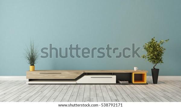 Parete Mobili Porta Tv Design.Illustrazione Stock 538792171 A Tema Mobile Porta Tv Moderno