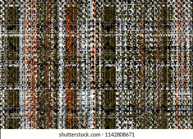 Modern tweed, linen, seamless pattern tartan design. Creative background with stripes and watercolor effect. Textile print for bed linen, jacket, package design, fabric and fashion concepts.