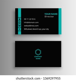 modern unique visiting card business detail creative black