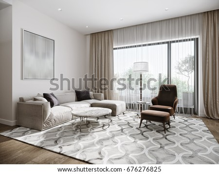 modern urban contemporary living room hotel stock illustration