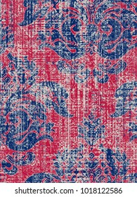 modern, vintage, ethnic, highly detailed abstract texture or grunge background. For art texture, grunge design, and vintage paper or border frame, modern damask pattern for carpet, rug,  scarf