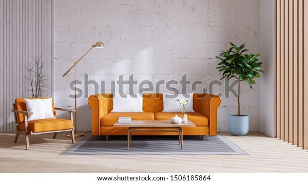 Modern Vintage Living Room Decorating Ideas Stock Illustration 1506185864