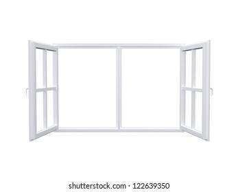 Modern window, isolated on white background.