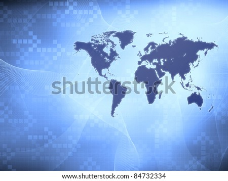 Modern world map wallpaper stock illustration 84732334 shutterstock modern world map wallpaper gumiabroncs Choice Image
