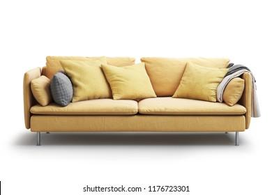 Yellow Sofa Images, Stock Photos & Vectors | Shutterstock