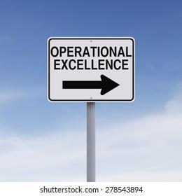 Signo de una vía modificado que indica Excelencia Operativa