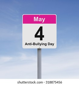 Modified road sign against Bullying