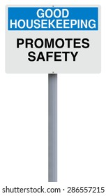 A modified road sign on good housekeeping