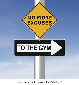 Modified road signs on exercising or working out