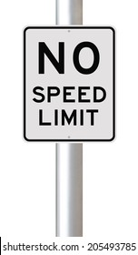 A modified speed limit sign