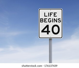 Life Begins at 40: Imágenes, fotos de stock y vectores | Shutterstock