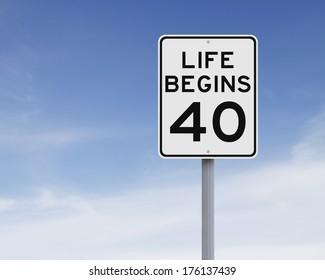 Life Begins at 40: Imágenes, fotos de stock y vectores | Shutterstock