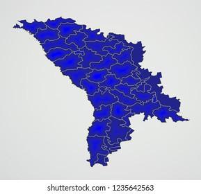 Moldavia Administrtaive Raions