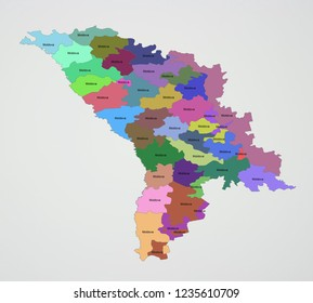Moldavia Raions Sectors Districts