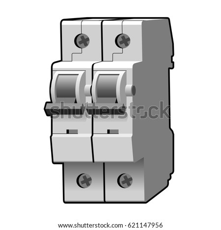 Molded Case Circuit Breaker Fuse Illustration Stock Illustration