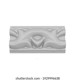 Molding seamless 3d rendering on white background