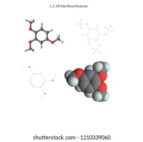 Molecular structure, 3D molecular plot and structure diagram, ethers