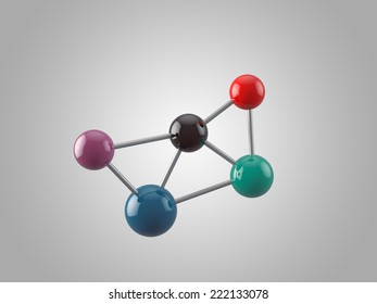 Molecular structure with 5 atoms