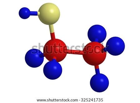 Molecular Structure Alcohol Ethanol Ethylalcohol Stock Illustration
