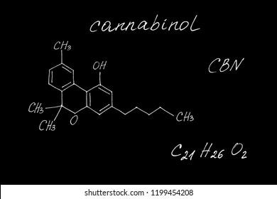 Molecular structure of cannabinol
