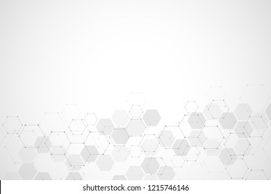 Molecular structure and chemical elements. Abstract molecules background. Science and digital technology concept. Illustration for scientific or technological design