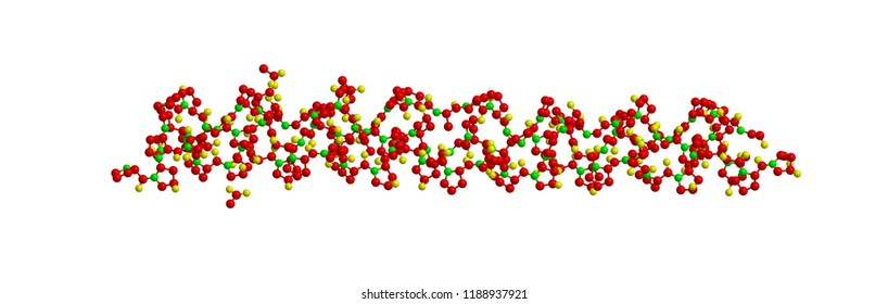 Molecular structure of collagen, structural protein - 3D rendering