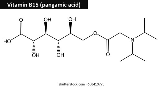 Molecular structure of Pangamic acid (so called pangamate or vitamin B15)