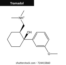 Molecular structure of Tramadol (so called Ultram) -  opioid pain medication