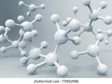 molecule or atom, Abstract structure for Science or medical background, 3d illustration.