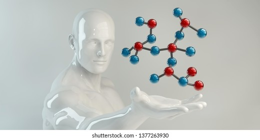 Molecule Science Industry Research and Development 3D Render