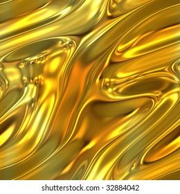 A molten gold liquid texture that tiles seamlessly.