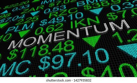 Momentum Stock Market Trend Good Rising Increase 3d Illustration