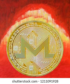 Monero crypto currency coin eruption