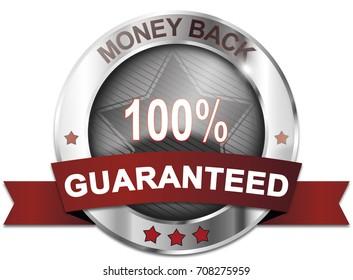 money back 100% guaranteed badge