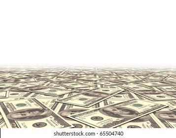 Money background dollar notes