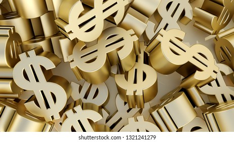 money dollar sign buy sale currency 3D illustration